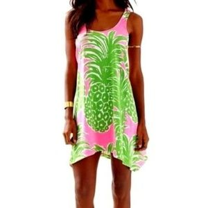 Lilly Pulitzer Monterey Tank Dress Pineapple sz S